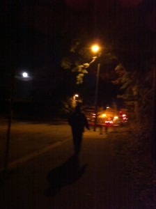 Walking Under the Full Moon