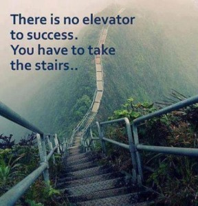 There is no elevator to success. You have to take the stairs...