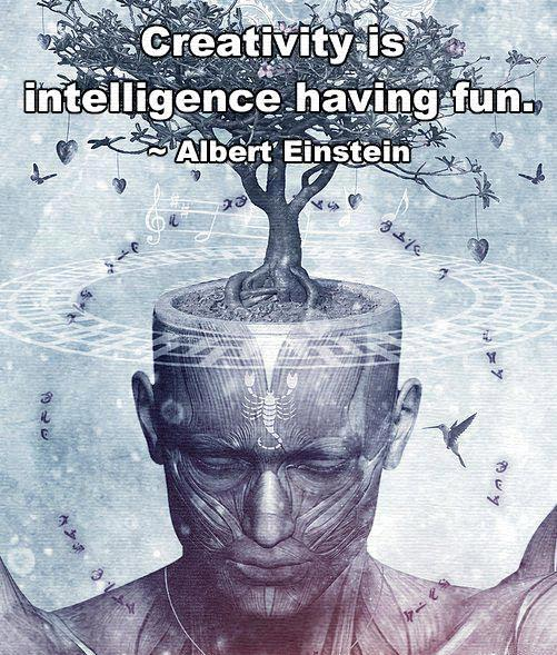 Creativity is intelligence having fun. -Albert Einstein
