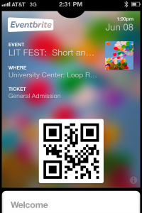 Printer's Row Lit Fest Ticket