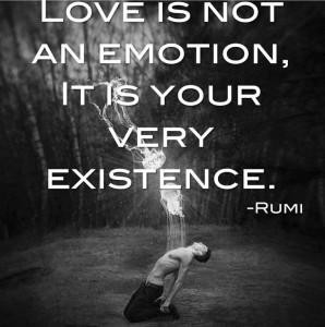 Love is not an emotion, it is your very existence. -Rumi