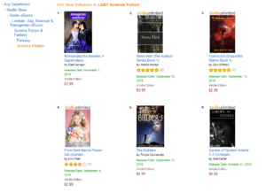 Amazon Hot New Releases, bestselling LGBT science fiction