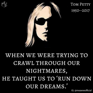 "When we were trying to crawl through our nightmares, he taught us to ""run down our dreams."""