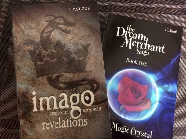 Suzuki books: Imago Chronicles, book eight and Dream Merchant saga, book one